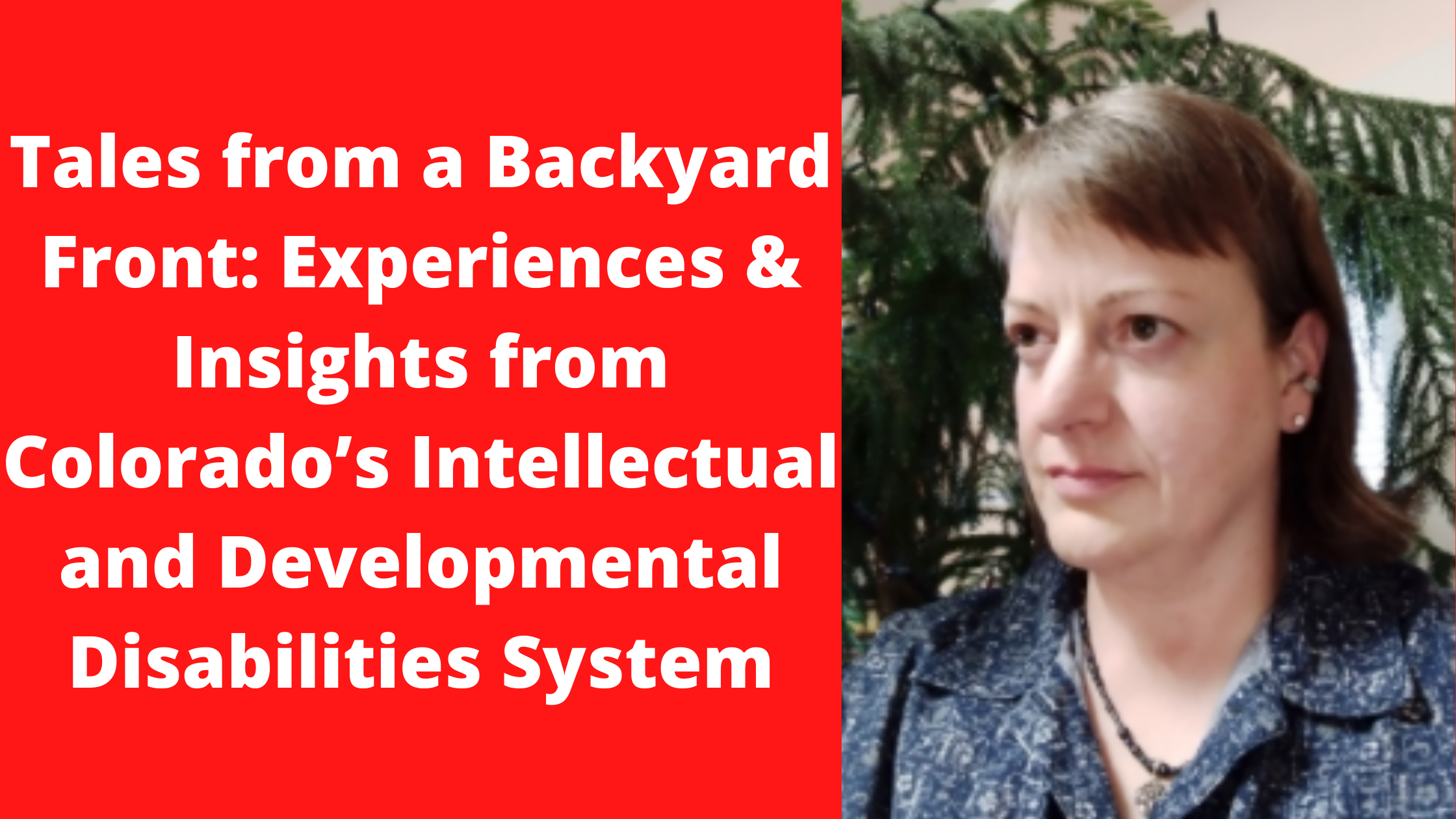 Tales from a Backyard Front Experiences Insights from Colorados Intellectual and Developmental Disabilities System